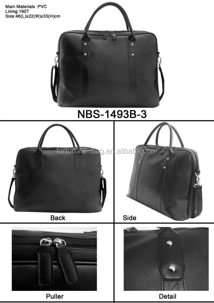 Hot sale items Luxuary men Document computer Bag high quality PU black colour