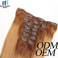 2015 cheap price wholesale clip in hair extension