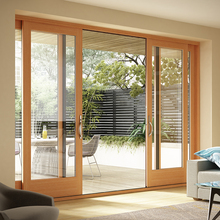 Interior sliding soundproof solid wood french doors for sale