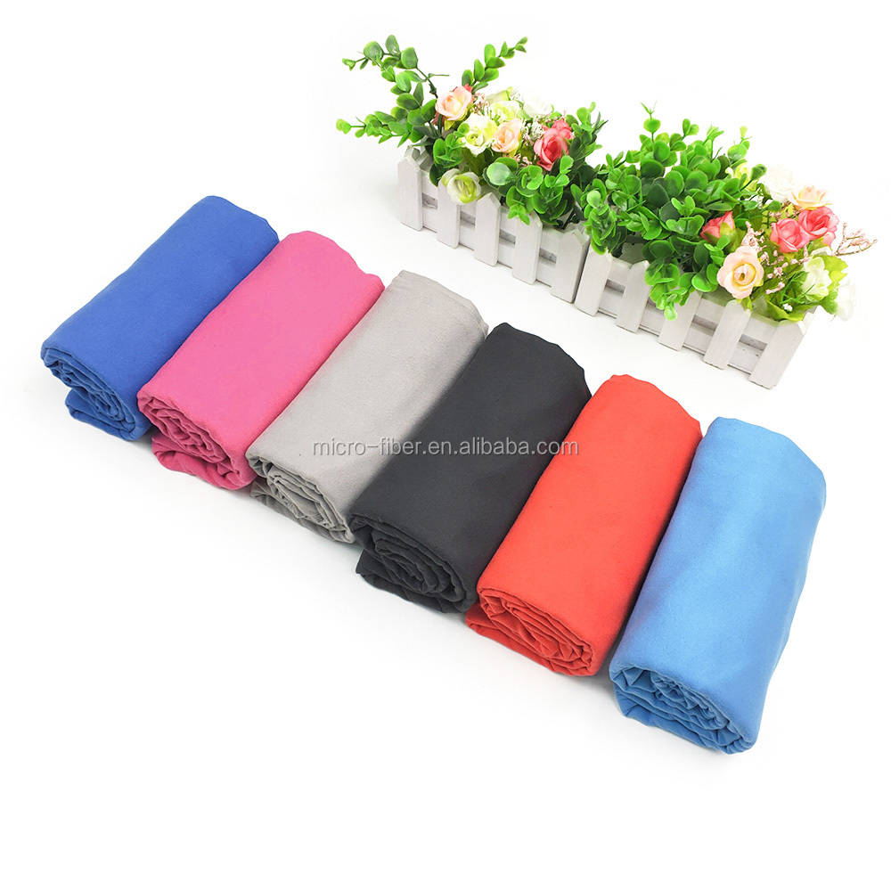 Wholesale Custom fast dry plain dyed microfiber gym towel custom logo