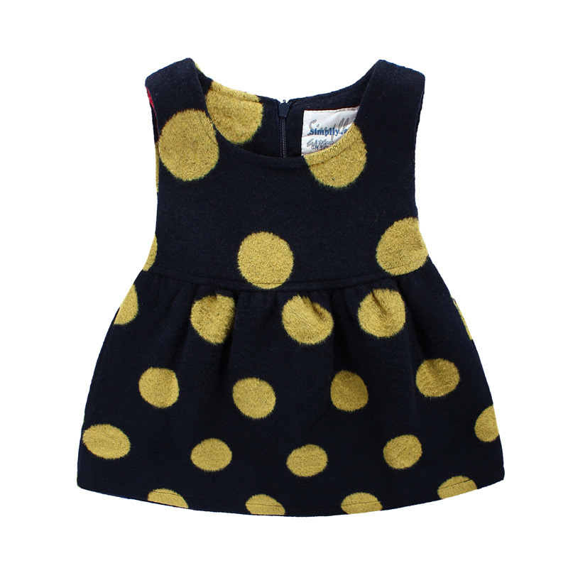 Cute Polka Dot Girl Dress Lovely Girls Clothes Baby Girl Clothes Kids Clothes 2 - 8 Years