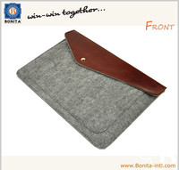 Simple brief case for tablet computer Felt laptop sleeve