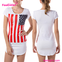 New Design American Flag Printing Custom Dry Fit T Shirt