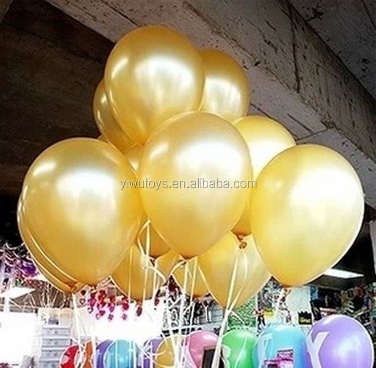 Wholesale shiny gold Metallic Latex Balloon