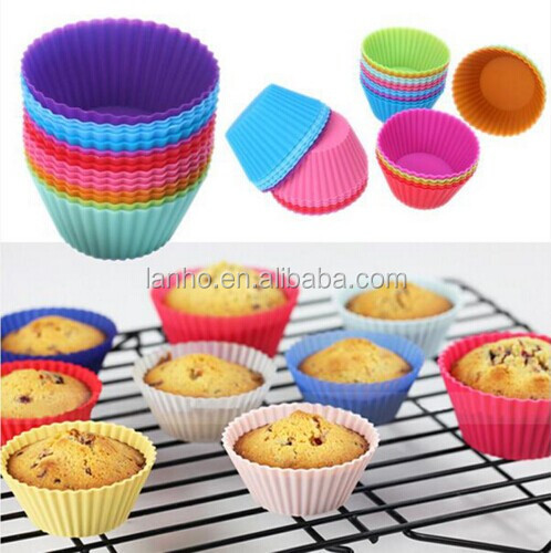 Bestselling Silicone Cake Cupcake Liner Baking Cup Mold Muffin Round Cup Cake Tool Bakeware Baking Pastry Tools Kitchen