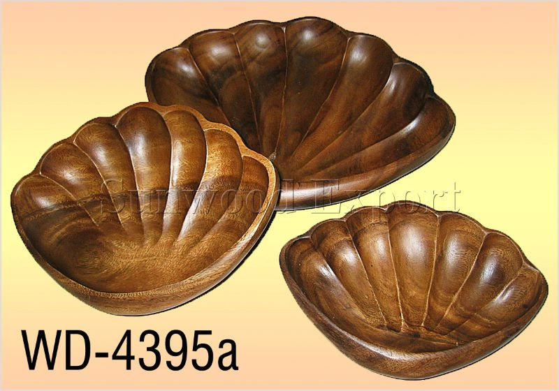S/3 Clam Shaped Bowl