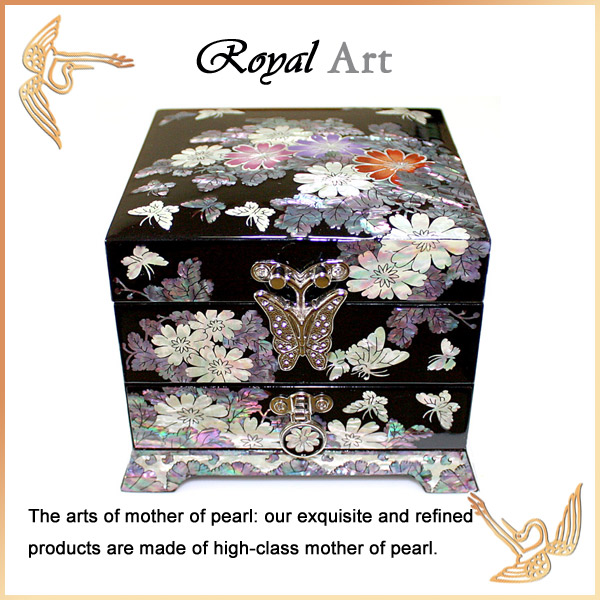 Luxury Jewelry Box with Mother of pearl inlaid; DR-502