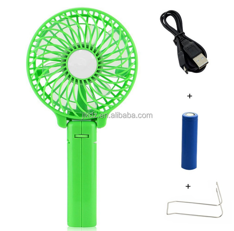 Portable mini clip USB rechargeable handheld foldable fan for promotion