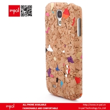 Wholesale price Recycled wine cork snap on case for samsung galaxy s4