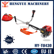 automatic gas cutting machine 2 stroke lawn mower brush cutter 43cc with grass cutter specification