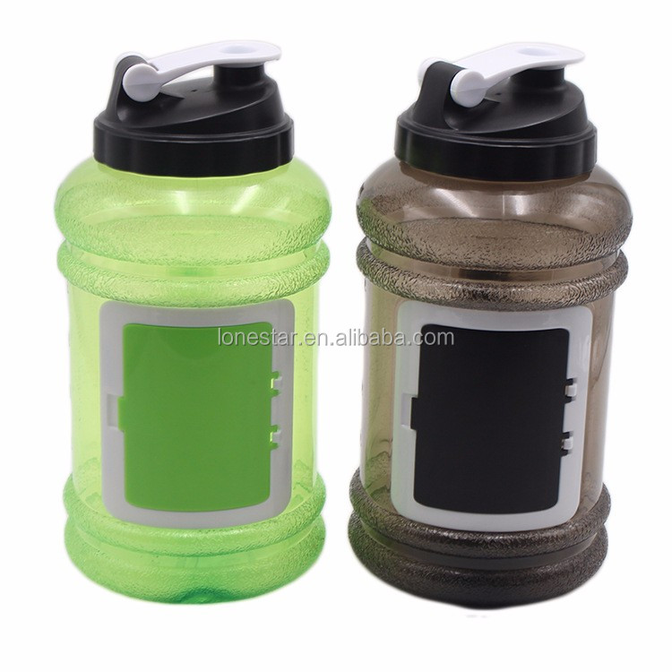2.2L PETG plastic water bottle half gallon water bottle with flip flop cap