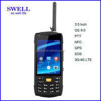 3.5 inch explosion proof 4G PTT Flip Rugged Android Smart Phone NFC walkie talkie with sim card