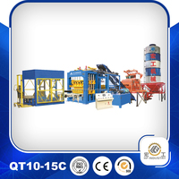 full automatic used concrete block making machine for sale, paving brick making machine price (10-15)