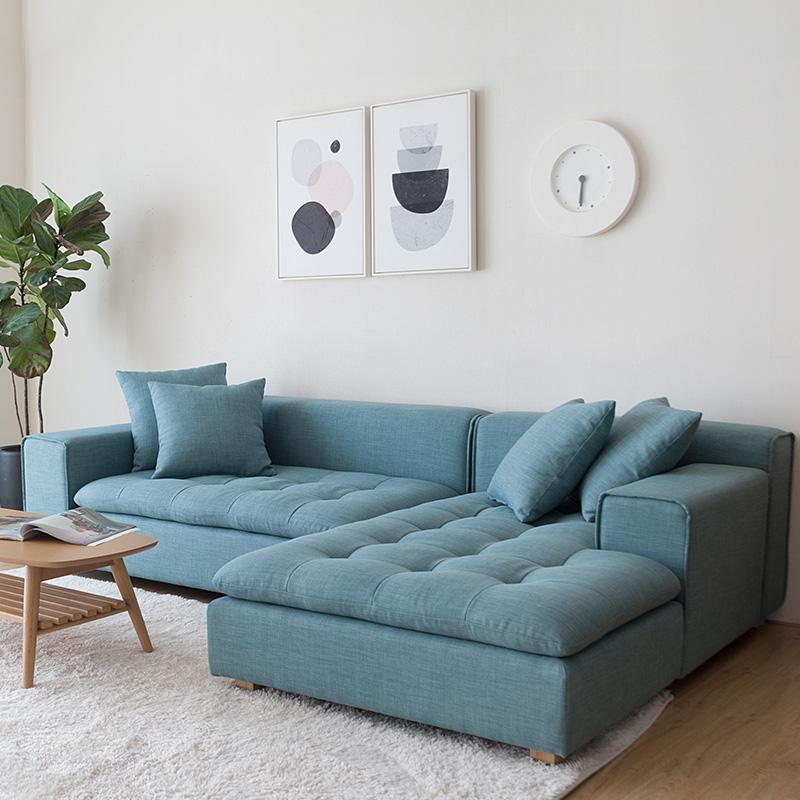 Living Room Furniture Modern L Shaped Corner Sofa Bed European Style