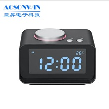 Promotion digital table dual alarm clock with fm radio