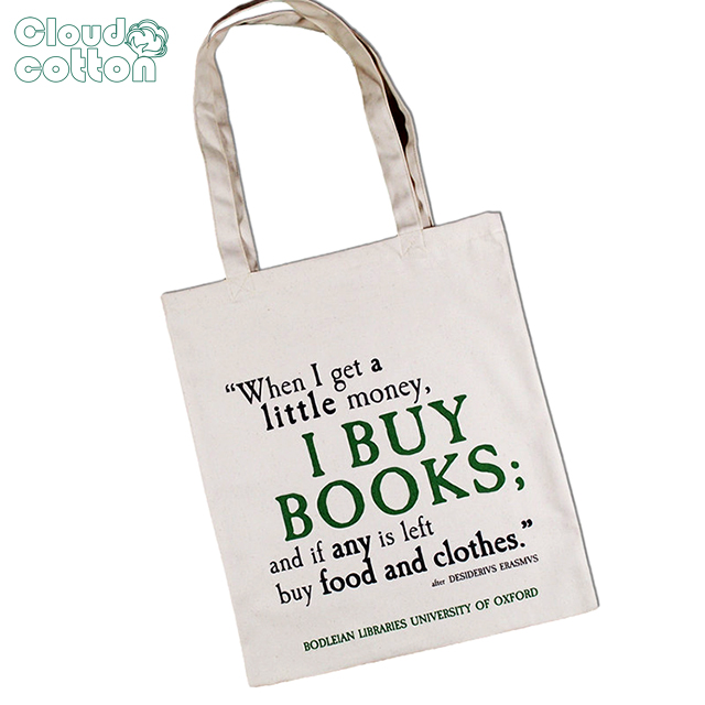 Library canvas bag cotton bag custom logo