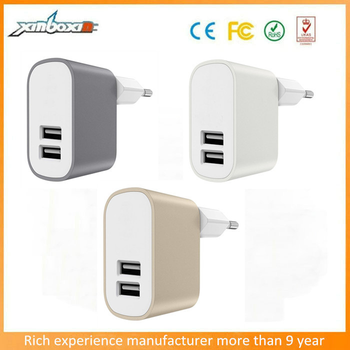 manufacture price 3.1A dual usb UK/EU/US wall charger for iphone6 mobile phone samsung galaxy s6