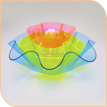 beautiful acrylic salad bowl for sale/acrylic candy box/acrylic home organizer