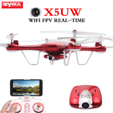 Syma X5UW RC WiFi Drone FPV Quadcopter RTF With HD Camera 2.4G 4CH APP Control Remote Control Helicopter For Adults
