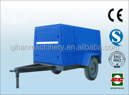wheeled Vertical diesel engine portable screw air compressor!