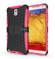 China wholesale! TPU & PC armor rugged stand cover case for Samsung Galaxy Note 3