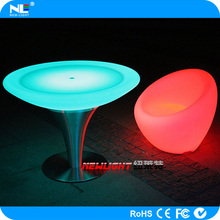 Color changing illuminated LED glow light bar sofas / full color wireless LED lighted chairs