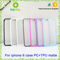 Factory offer beautiful clear phone case TPU + PC for iphone 6 6s