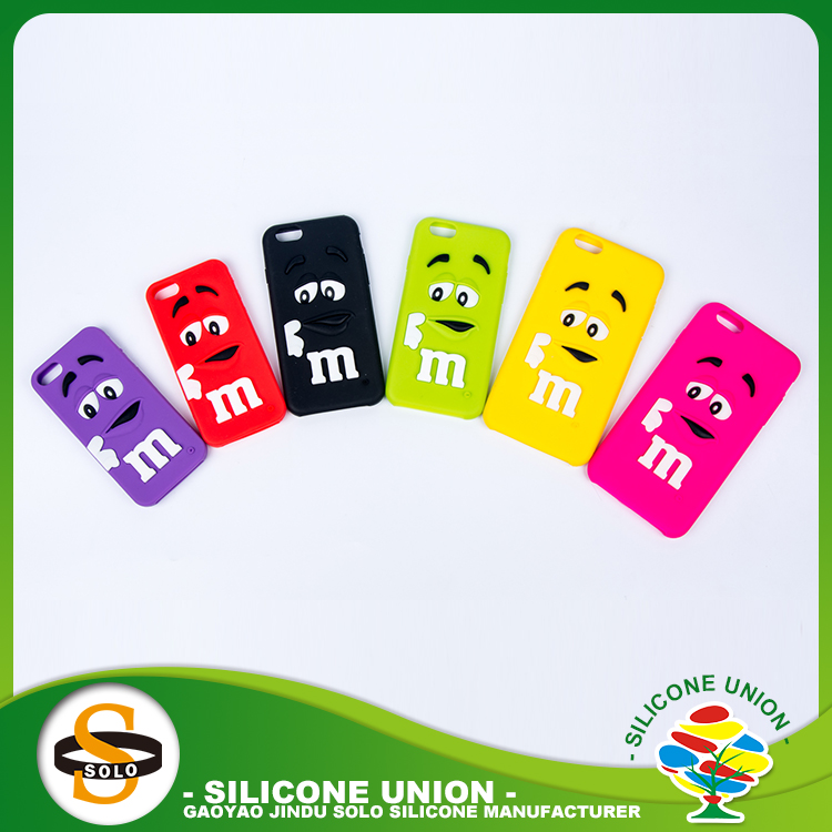 Anniversary silicone mobile phone case holder