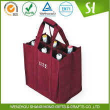 Alibaba China Cheap customized 6 bottle wine tote bag