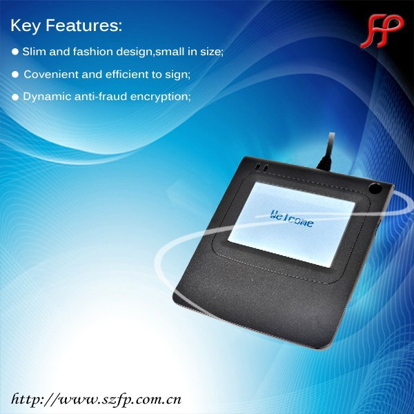 3.5 inch high performance electronic signature pad connected with POS terminal