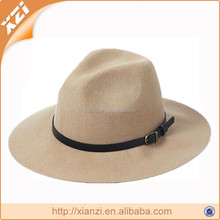 Top quality 100% faux wool felt hat with leather cummerbund hats