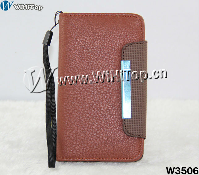 For Samsung Galaxy S2 i9100 Leather Flip Case Wallet Design Cover Credit Card Slot Skin .Galaxy S2 Wallet Case