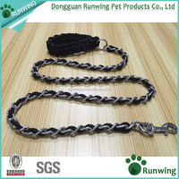 Factory Wholesale Pet Choke Chain Metal Chain Dog Leash With Braided Handle