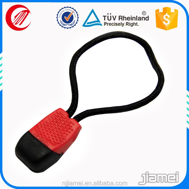 strong elastic zipper puller pvc zipper puller with lowest price