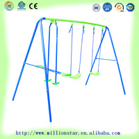 best sale top quality DG Million Star LS-SW31027 3 station indoor outdoor kids love swing for wholesale