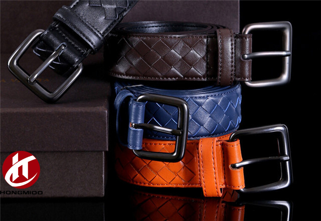 Hottest Hand Woven Genuine Braided Leather Belts for Men