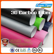 Black 3D Carbon Fiber Vinyl Wrap Sheet Film Roll