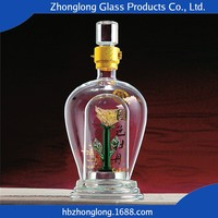 Famous Brand Good Quality Transparent Antique Glass Wine Bottle
