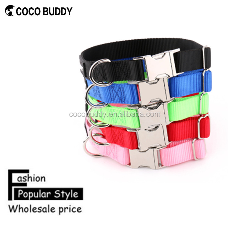 Fashion Popular Style Wholesale price 100% Pure Nylon Pet dog training collars for Dog&Cat