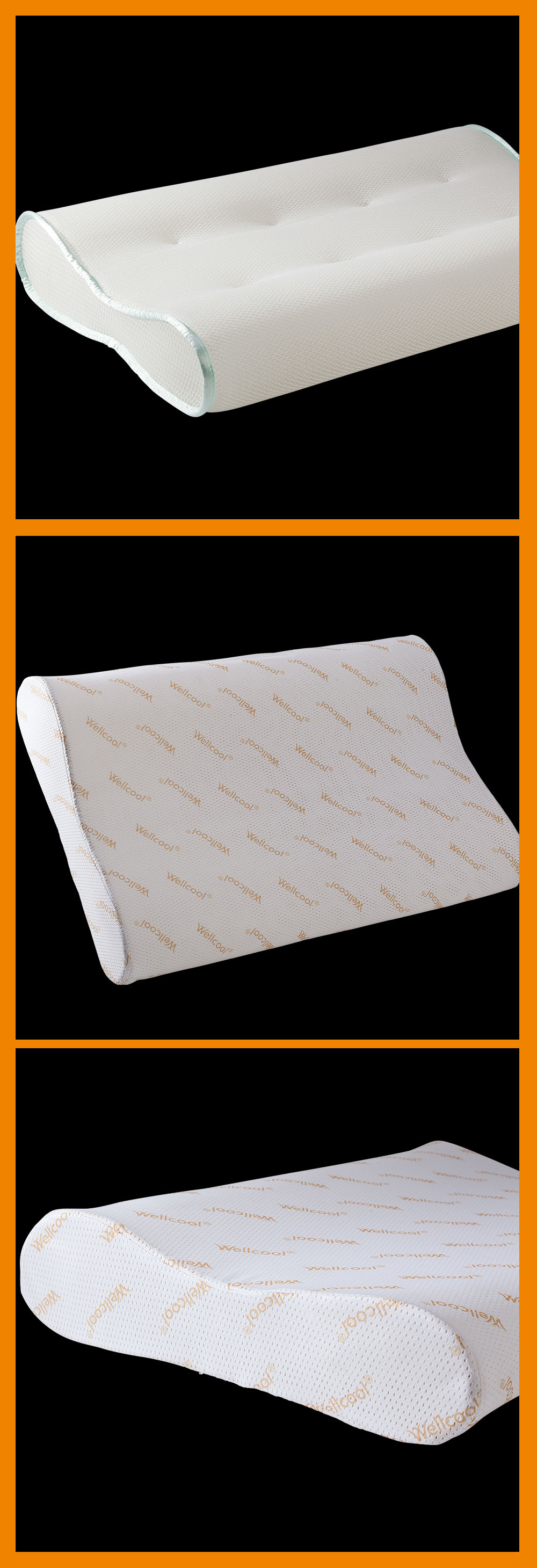 wellcool 3d neck air conditioning knitted spacer fabric pillow