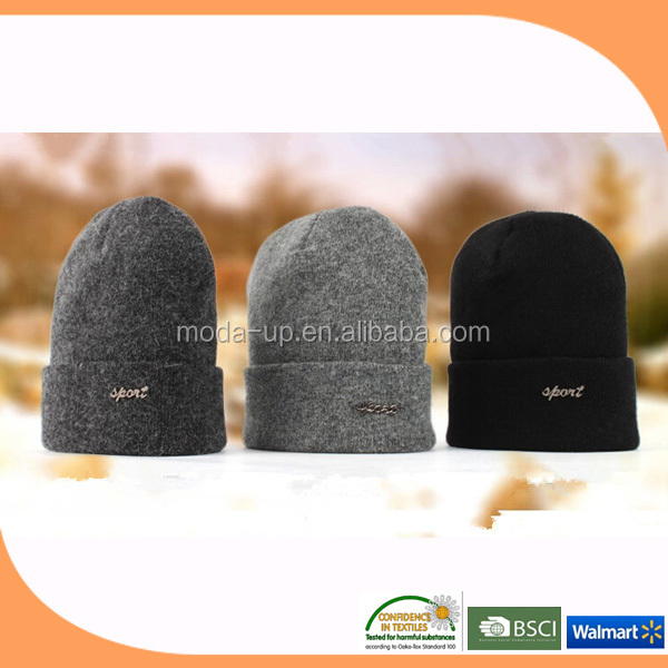 Wool hat/ winter knitted wool hat for men/ knitted hat wool