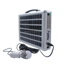 Indian market hot selling Ultra thin 10W Portable Solar system with radio & LED light