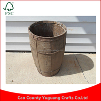 Wire Wood Metal Bands Rustic Primitive Wooden Nail Keg Barrel