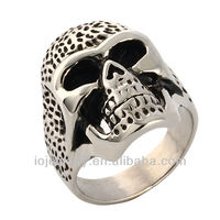 Hot sell stainless steel skull ring jewelry from factory direct supplies