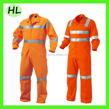 Hi vis orange cheap flame resistant overall coverall for winter