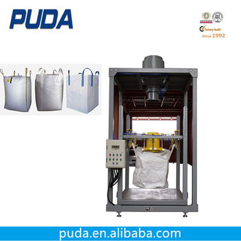 Horizontal free flow bulk bag automatic granule packing machine
