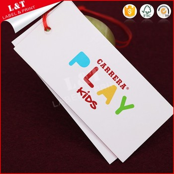 Factory Direct Coated Paper Custom Apparel Hang Tags