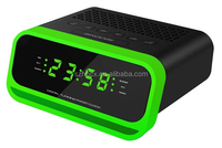 Colorful Digital FM Radio Clock with LED Display