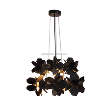 2016 new modern interior black resin hanging lamp living room led decorative pendant lighting