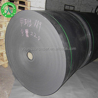 Customized dongguan dark black kraft reel paper